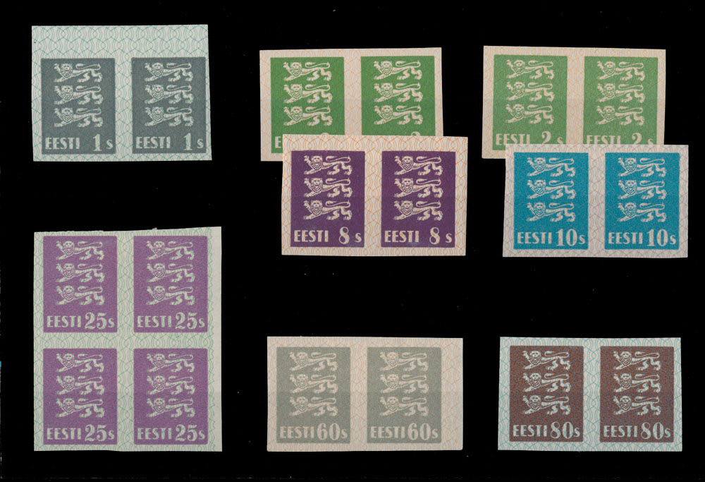Lot 22 - 1. The One Man Collection of Baltic States estonia -  Raritan Stamps Inc. Stamp Auction #75