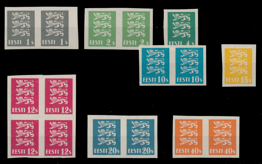 Lot 23 - 1. The One Man Collection of Baltic States estonia -  Raritan Stamps Inc. Stamp Auction #75