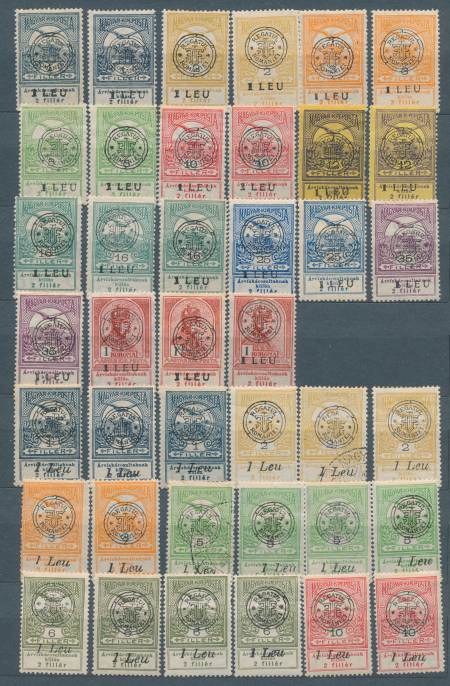 Lot 734 - Romania - Transylvania Issues (New Romania) collection -  Raritan Stamps Inc. Stamp Auction #75