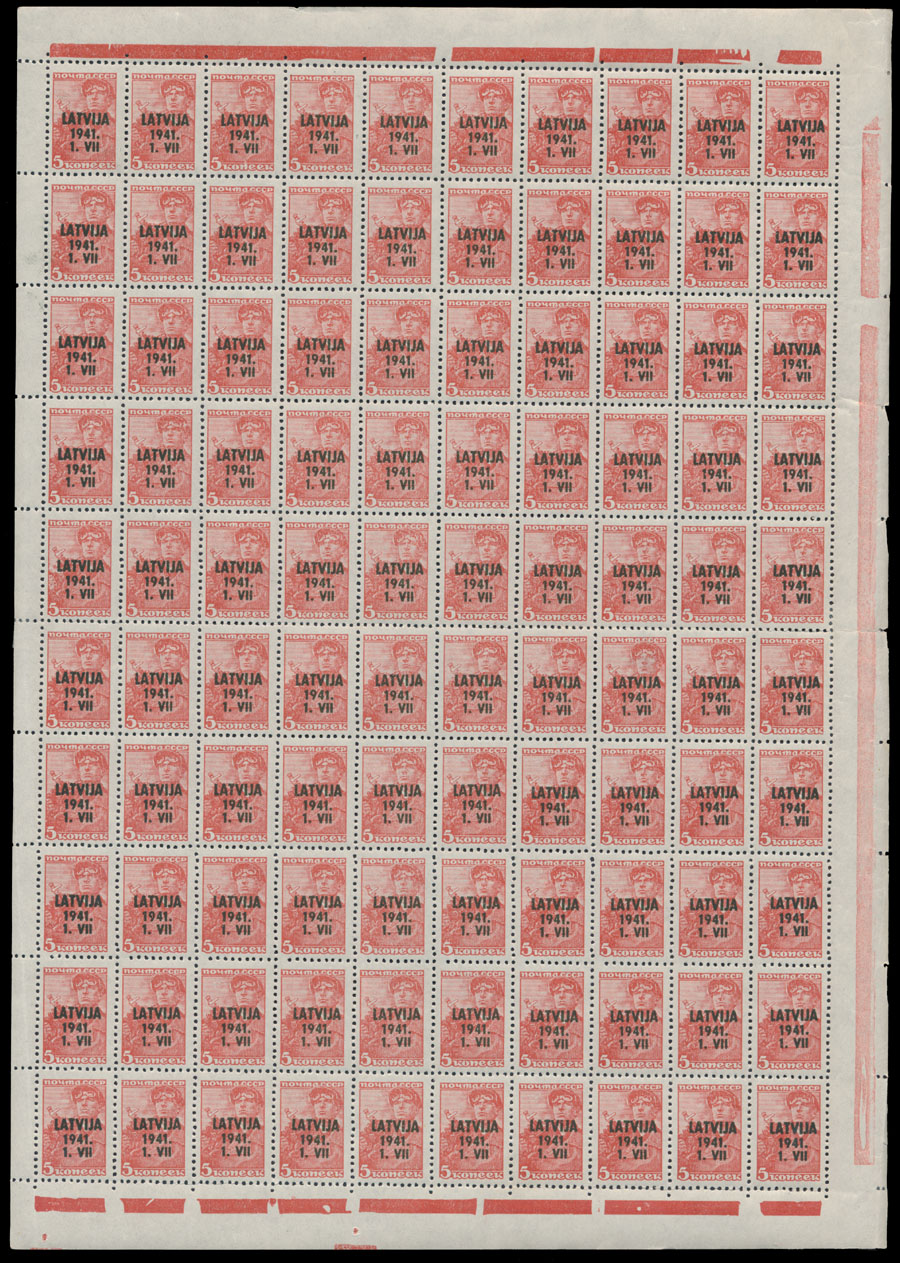 Lot 279 - germany. occupation issues of the world war ii Latvia (Lettland) -  Raritan Stamps Inc. Live Bidding Auction #78