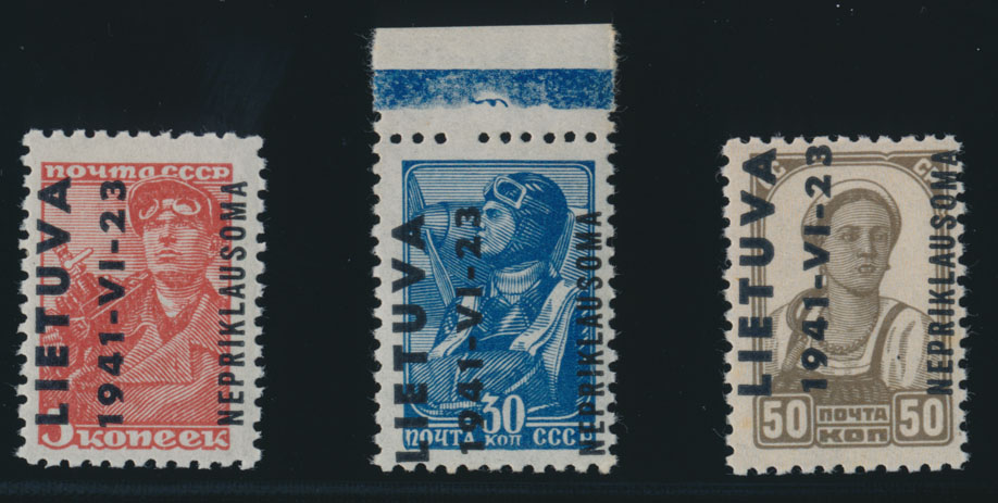 Lot 282 - germany. occupation issues of the world war ii Lithuania (Litauen) -  Raritan Stamps Inc. Live Bidding Auction #78