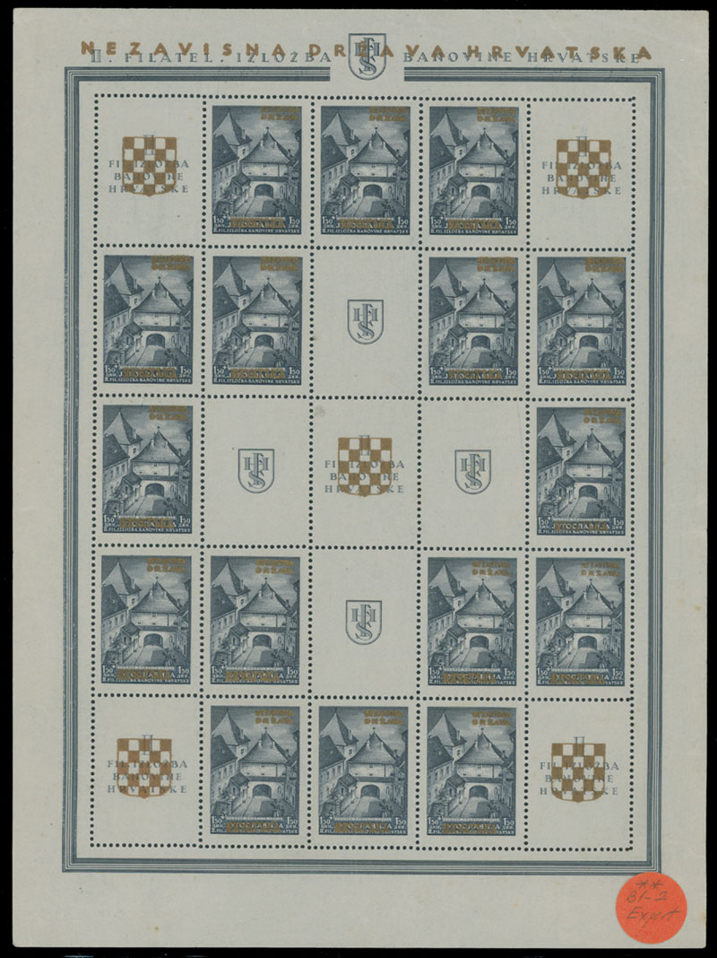 Lot 338 - Croatia Semi – Postal issues -  Raritan Stamps Inc. Live Bidding Auction #80
