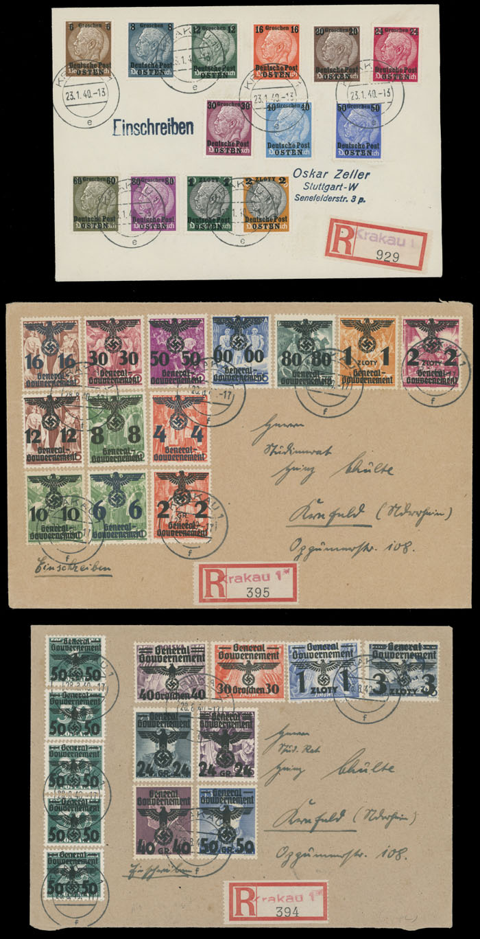 Stamp Auction - germany  occupation issues of the world war ii