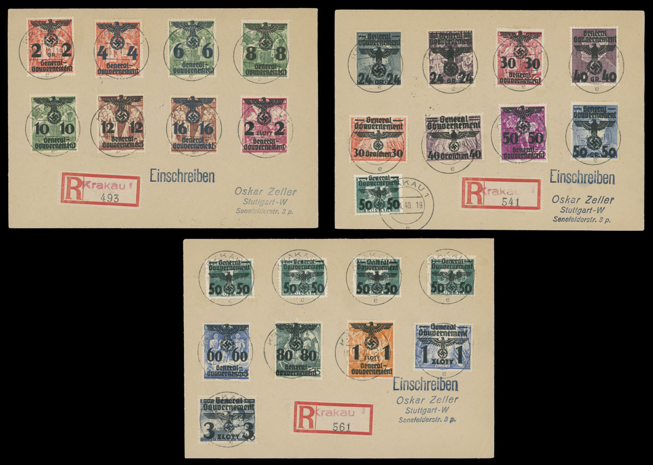 Stamp Auction - germany  occupation issues of the world war