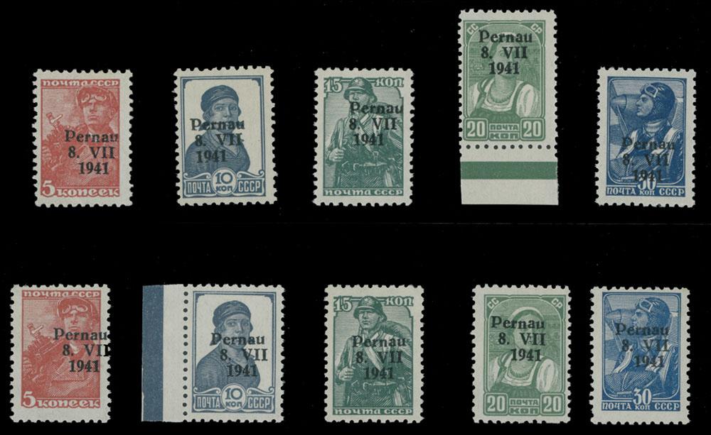 Lot 411 - germany. occupation issues of the world war ii Estonia (Estland) - Pärnu (Pernau) -  Raritan Stamps Inc. Live Bidding Auction #80