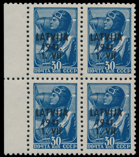 Lot 417 - germany. occupation issues of the world war ii Latvia (Lettland) -  Raritan Stamps Inc. Live Bidding Auction #80