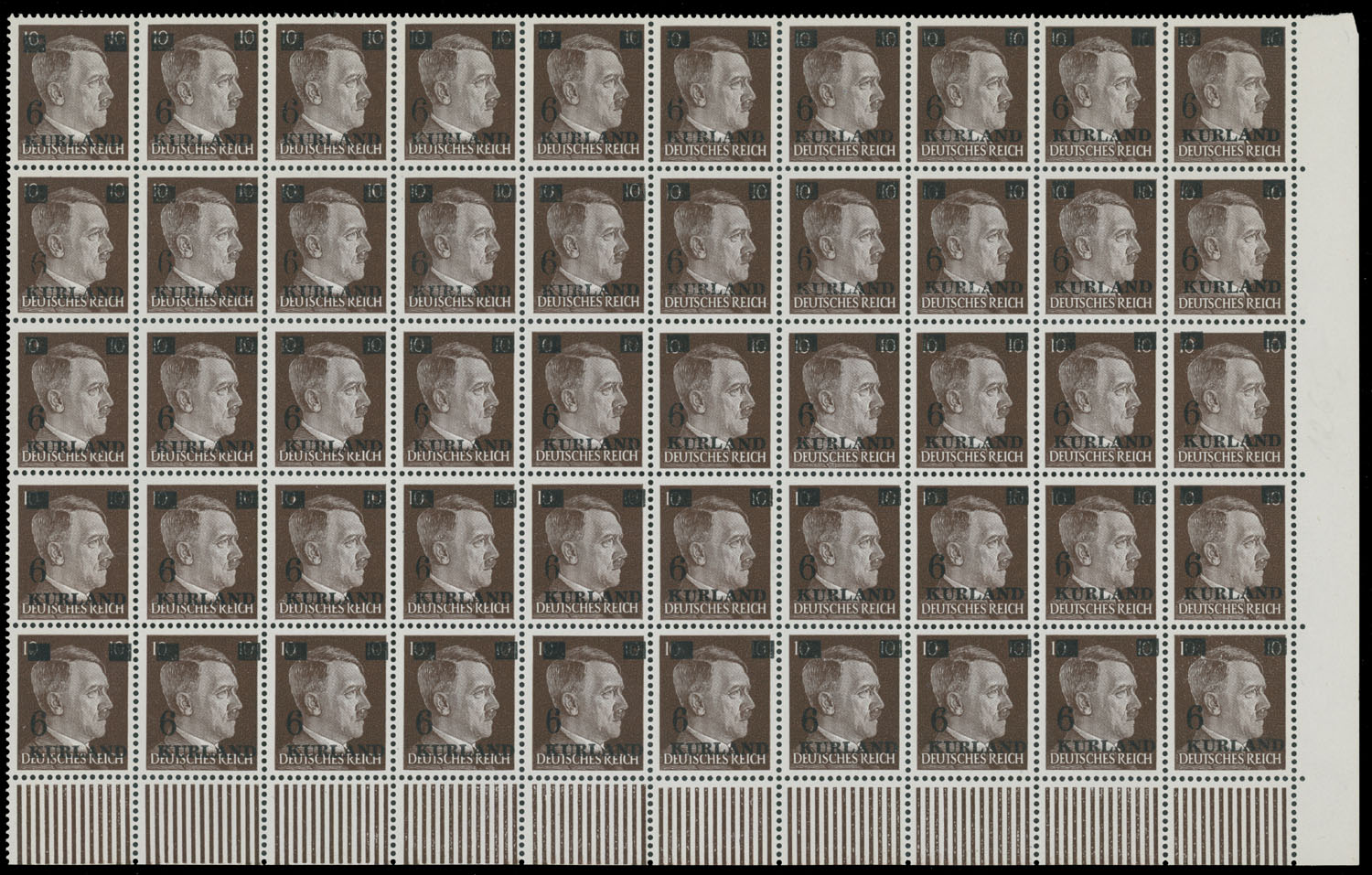 Lot 418 - germany. occupation issues of the world war ii Latvia (Lettland) - Kurland -  Raritan Stamps Inc. Live Bidding Auction #80