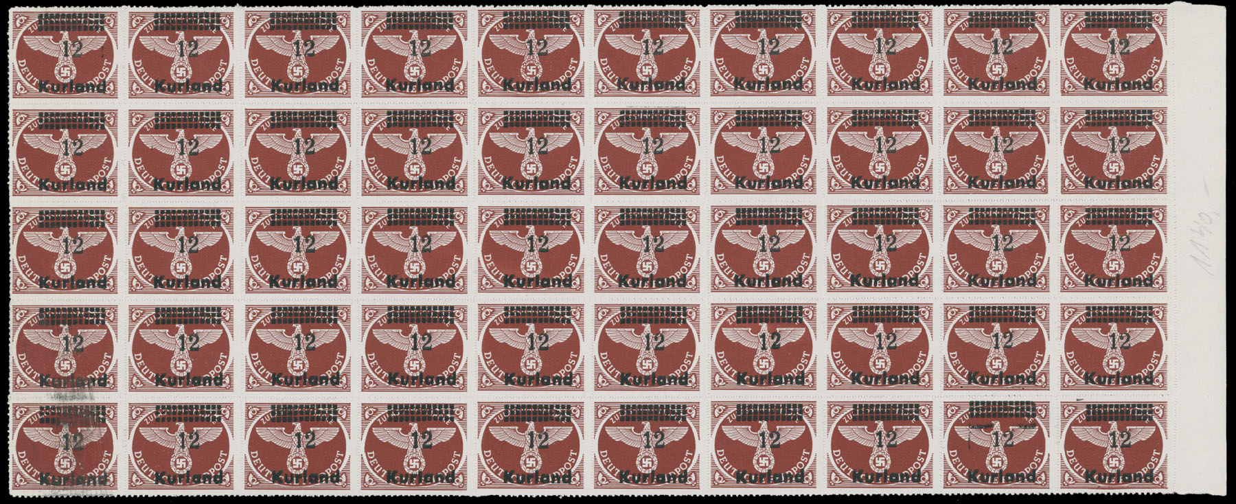 Lot 420 - germany. occupation issues of the world war ii Latvia (Lettland) - Kurland -  Raritan Stamps Inc. Live Bidding Auction #80