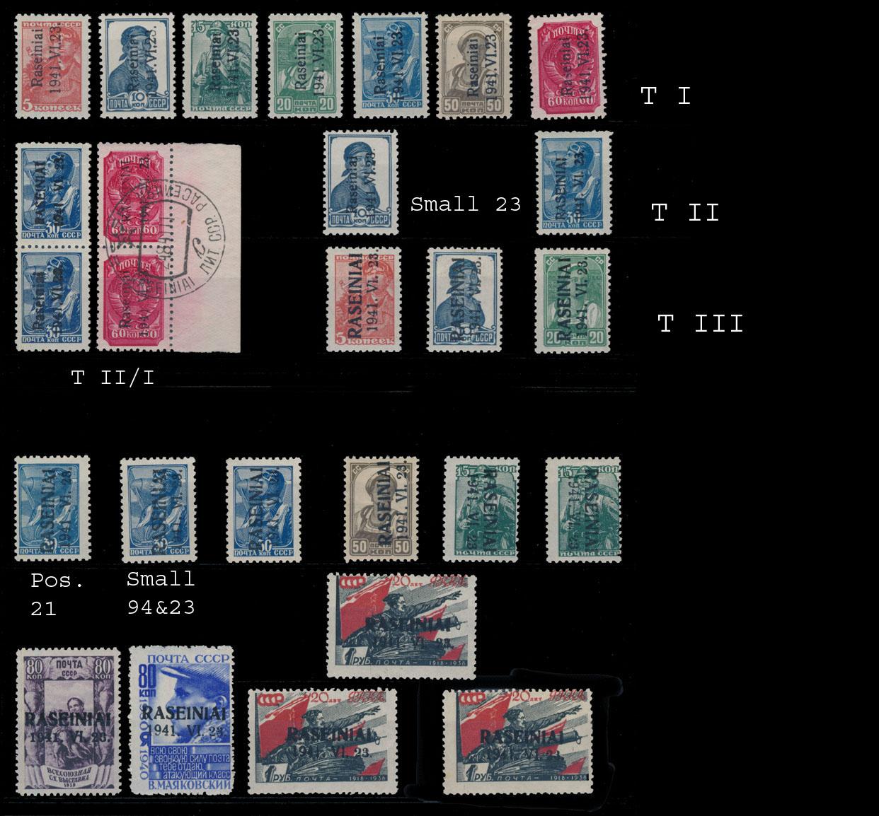 Lot 428 - germany. occupation issues of the world war ii Lithuania (Litauen) - Raseiniai (Rosingen) -  Raritan Stamps Inc. Live Bidding Auction #80