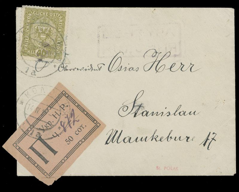 Lot 26 - 1. The ''Galychanka'' Collection of Western Ukraine f. Registration stamps -  Raritan Stamps Inc. Live Bidding Auction #81