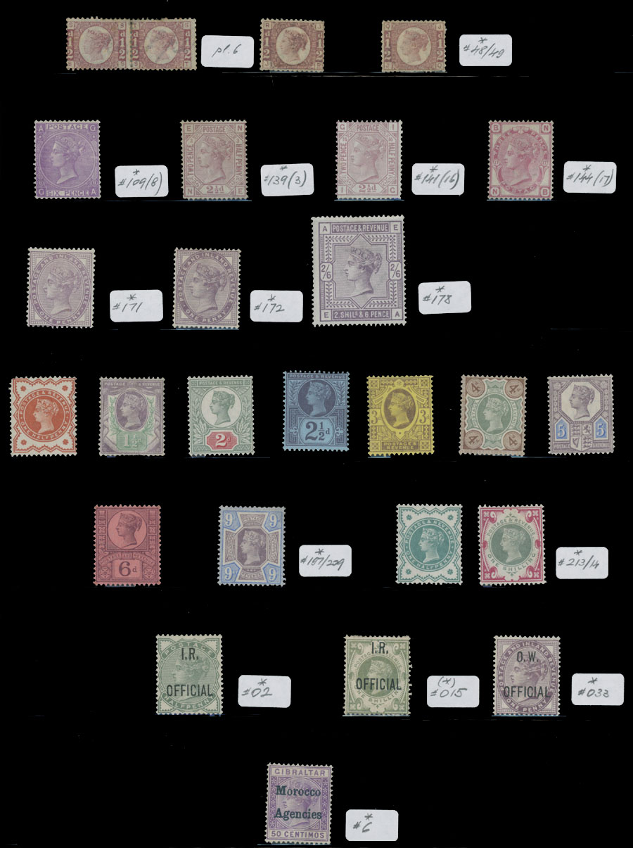 Lot 272 - 3. Great Britain - Collection  -  Raritan Stamps Inc. Live Bidding Auction #81