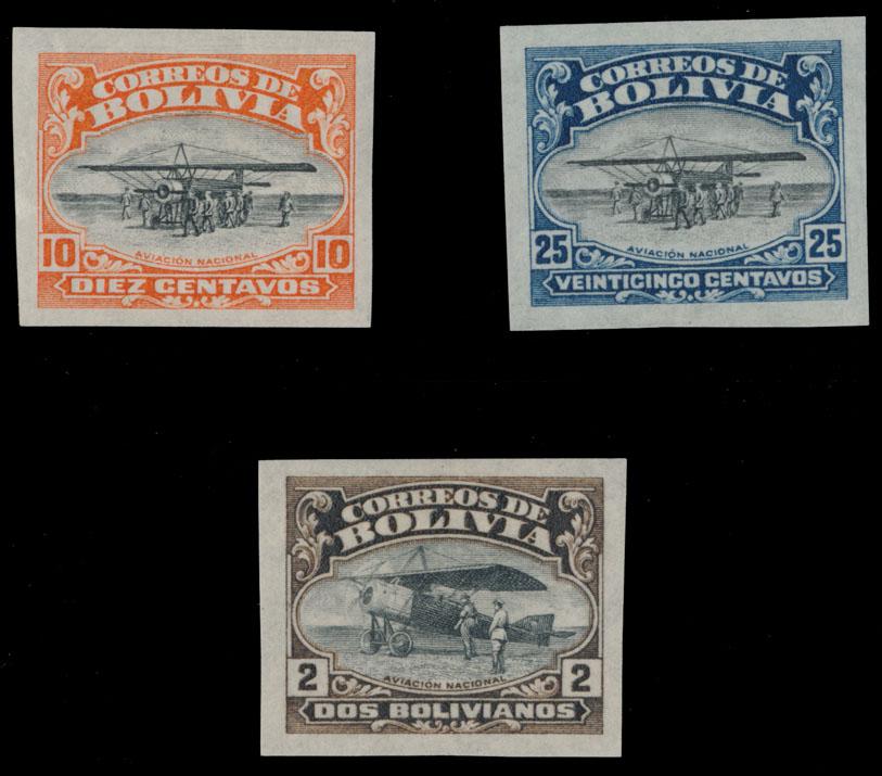 Lot 448 - bolivia air post stamps -  Raritan Stamps Inc. Live Bidding Auction #81