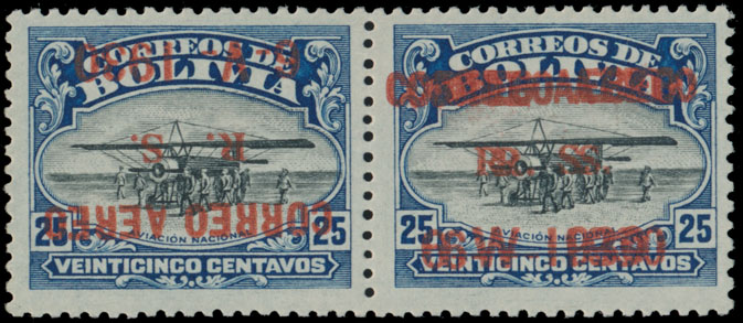 Lot 449 - bolivia air post stamps -  Raritan Stamps Inc. Live Bidding Auction #81
