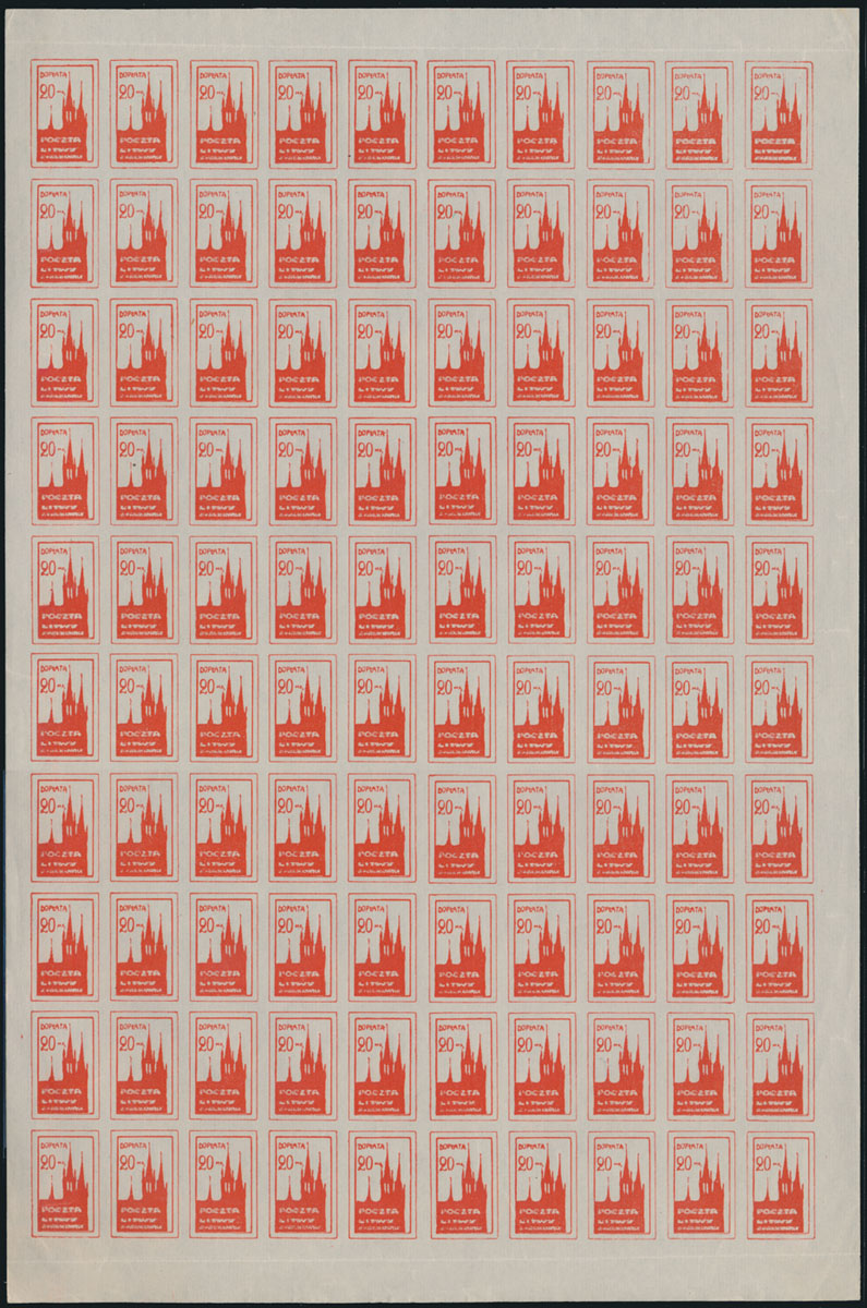 Lot 540 - central lithuania Postage due stamps -  Raritan Stamps Inc. Live Bidding Auction #81