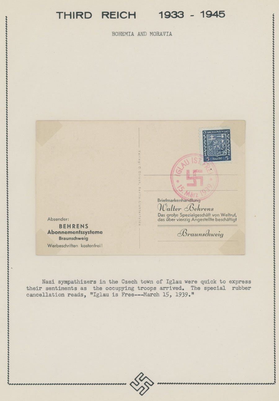 Lot 680 - germany. occupation issues of the world war ii bohemia and moravia -  Raritan Stamps Inc. Live Bidding Auction #81