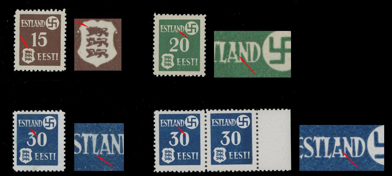 Lot 682 - germany. occupation issues of the world war ii estland (estonia) -  Raritan Stamps Inc. Live Bidding Auction #81