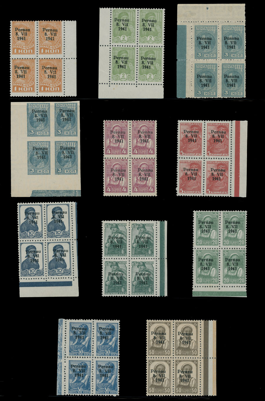Lot 686 - germany. occupation issues of the world war ii Estland (Estonia) - Pernau (Pärnu -  Raritan Stamps Inc. Live Bidding Auction #81
