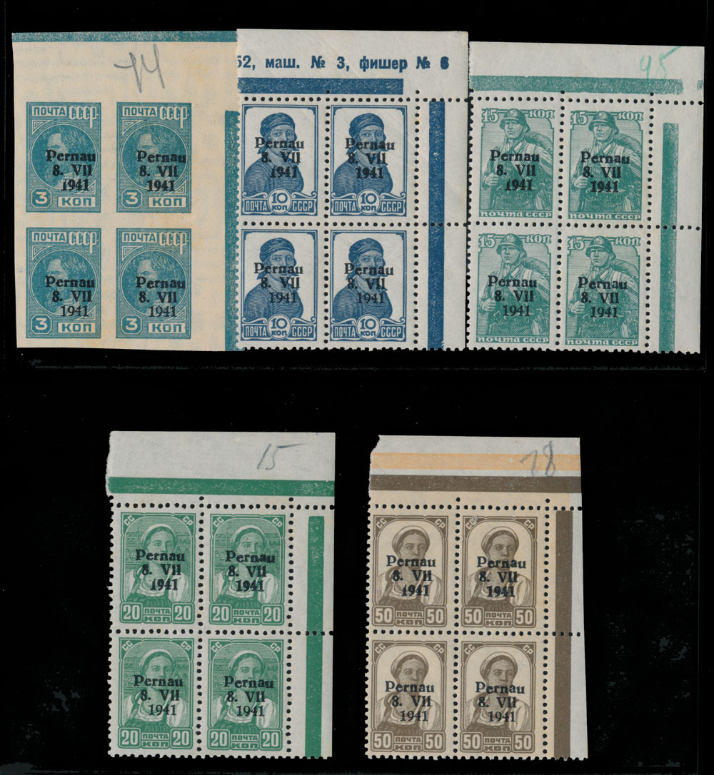 Lot 688 - germany. occupation issues of the world war ii Estland (Estonia) - Pernau (Pärnu -  Raritan Stamps Inc. Live Bidding Auction #81