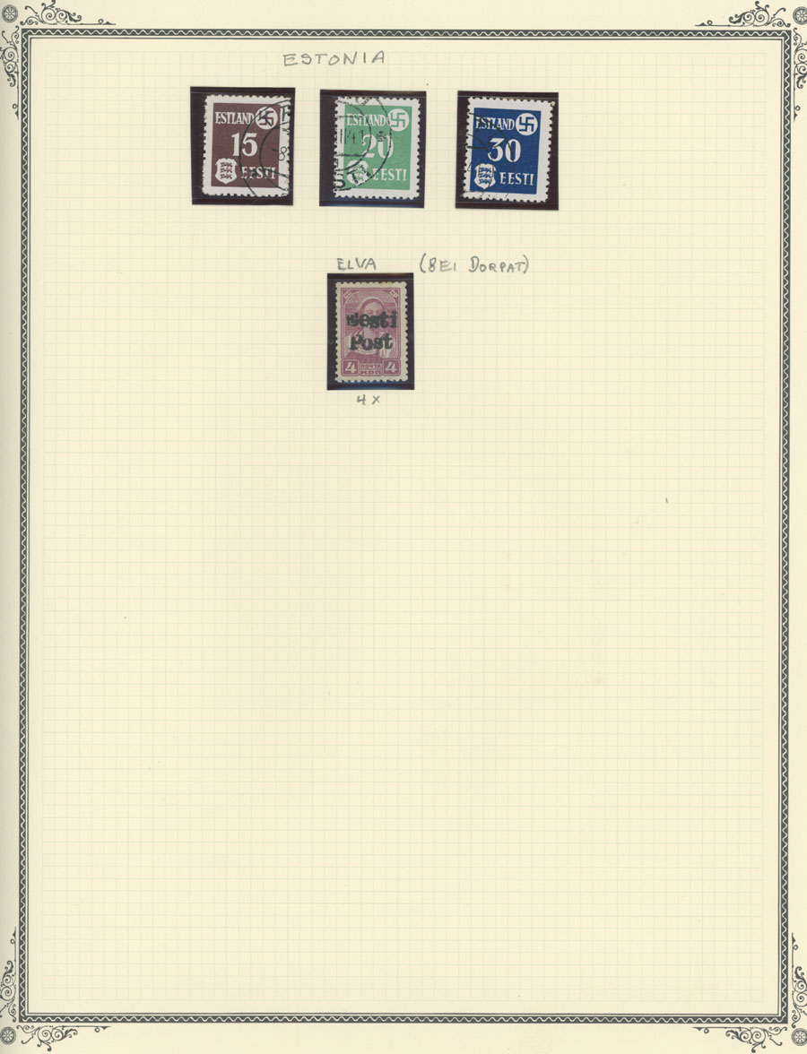 Lot 689 - germany. occupation issues of the world war ii Estland (Estonia) - Pernau (Pärnu -  Raritan Stamps Inc. Live Bidding Auction #81
