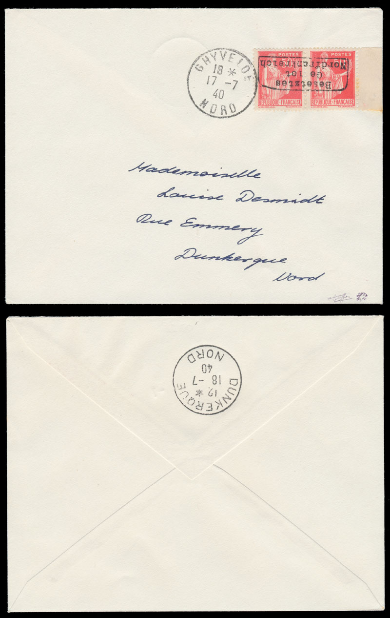Lot 690 - germany. occupation issues of the world war ii Frankreich (France) - Dunkirchen (Dunkirk) -  Raritan Stamps Inc. Live Bidding Auction #81