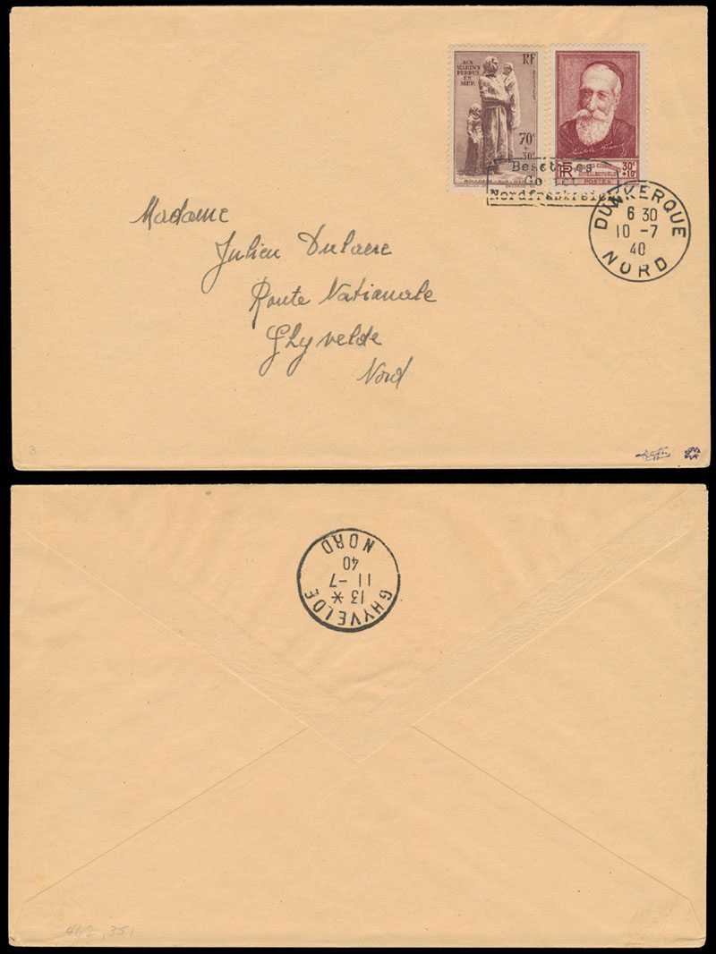 Lot 691 - germany. occupation issues of the world war ii Frankreich (France) - Dunkirchen (Dunkirk) -  Raritan Stamps Inc. Live Bidding Auction #81