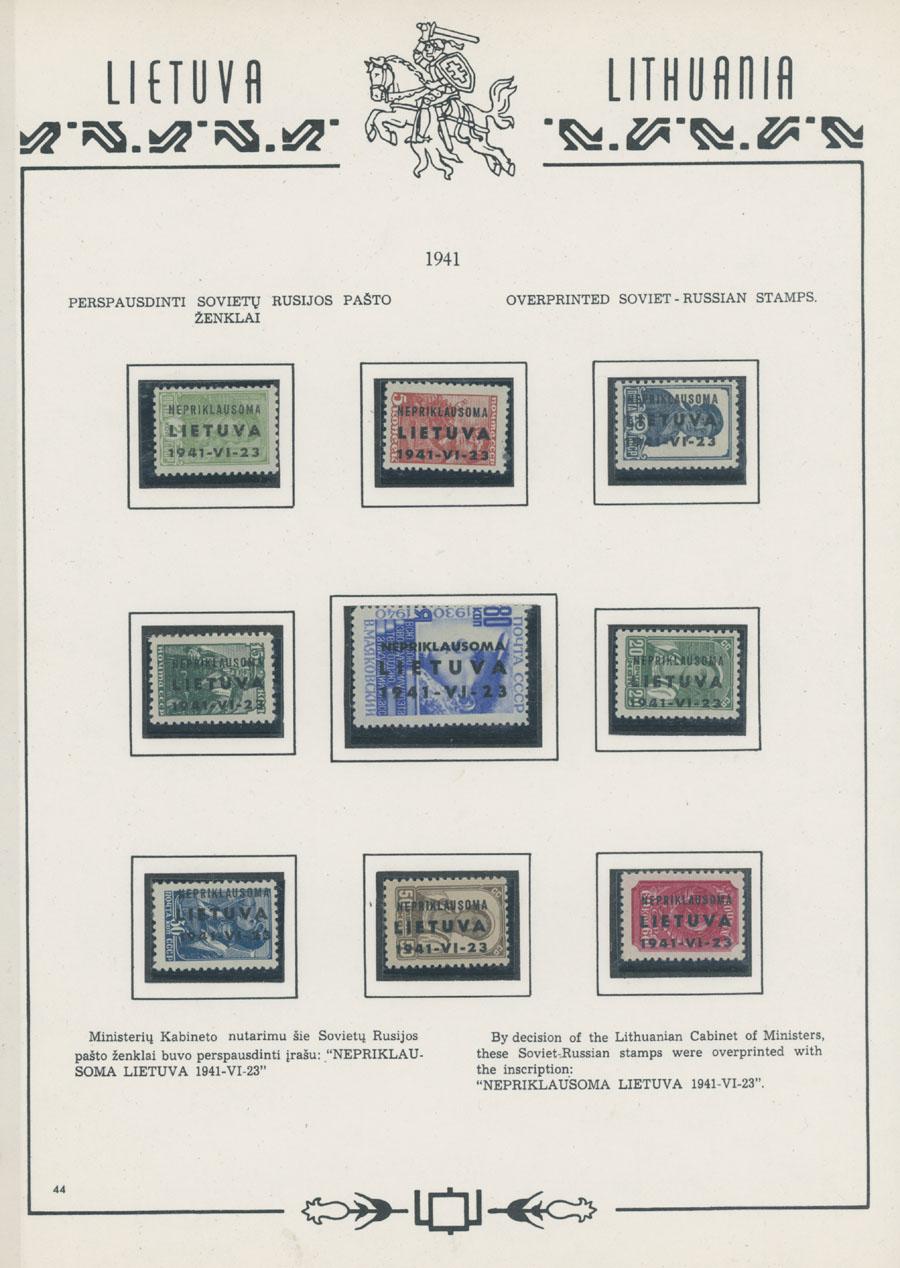 Lot 696 - germany. occupation issues of the world war ii Litauen (Lithuania) - Telschen (Telsiai) -  Raritan Stamps Inc. Live Bidding Auction #81