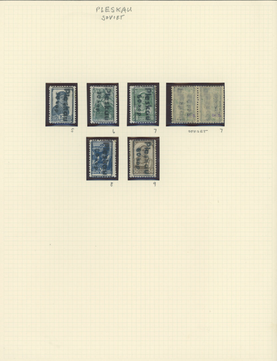 Lot 700 - germany. occupation issues of the world war ii russland (russia) - pleskau (pskov) -  Raritan Stamps Inc. Live Bidding Auction #81
