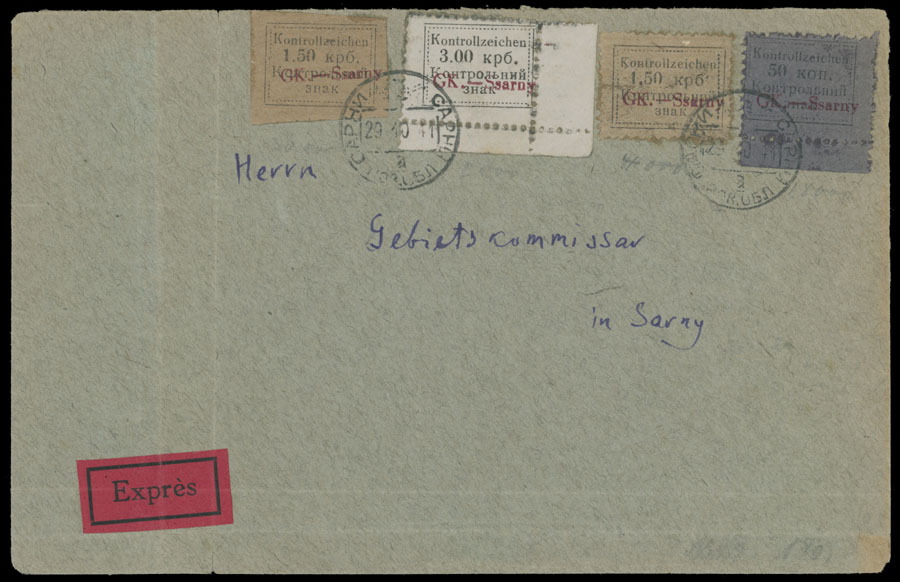 Lot 719 - germany. occupation issues of the world war ii ukraine - sarny -  Raritan Stamps Inc. Live Bidding Auction #81