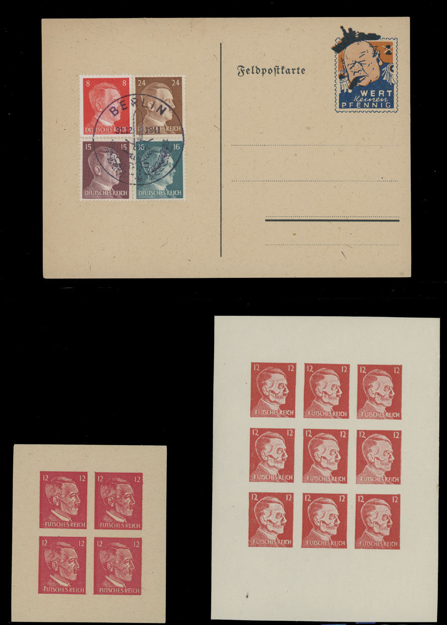 Lot 725 - germany. occupation issues of the world war ii propaganda forgeries -  Raritan Stamps Inc. Live Bidding Auction #81