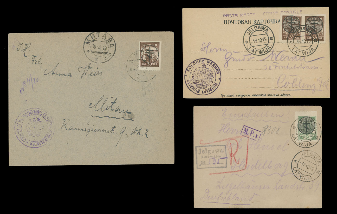 Lot 837 - Latvia - Russian Occupation Issues  -  Raritan Stamps Inc. Live Bidding Auction #81