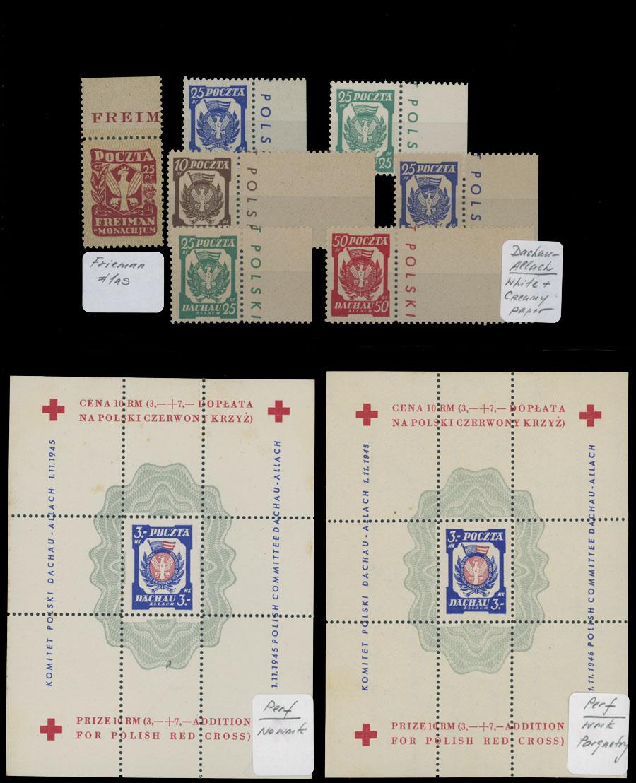 Lot 897 - Poland - Camp Post dachau-allach -  Raritan Stamps Inc. Live Bidding Auction #81