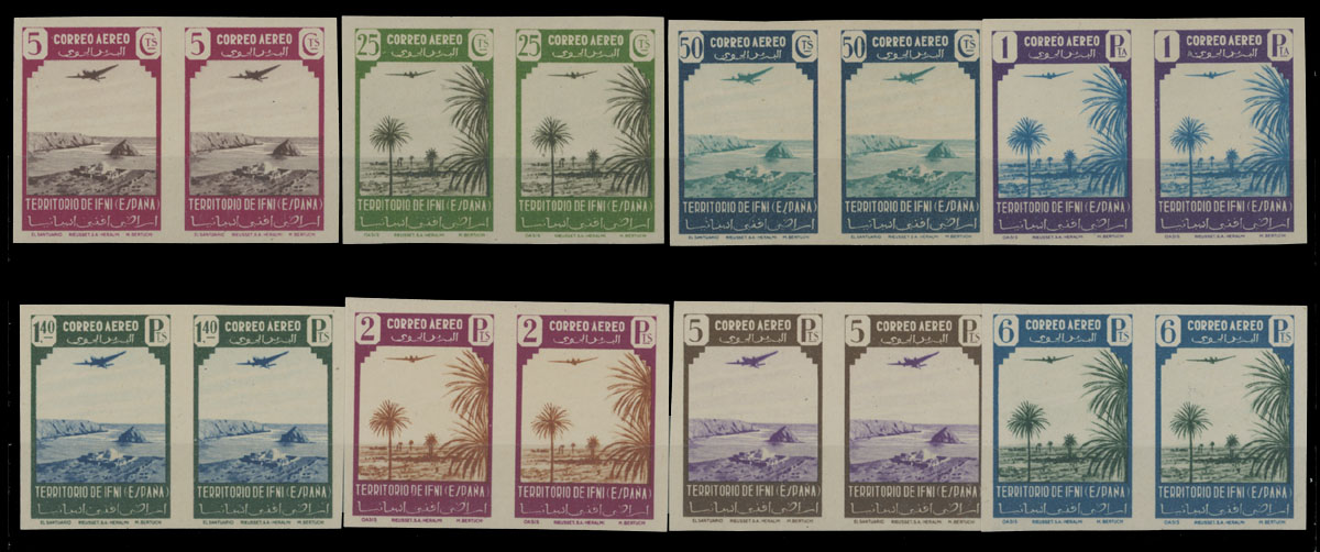 Lot 1007 - SPAIN - COLONIES Ifni - Air Post stamps -  Raritan Stamps Inc. Live Bidding Auction #82