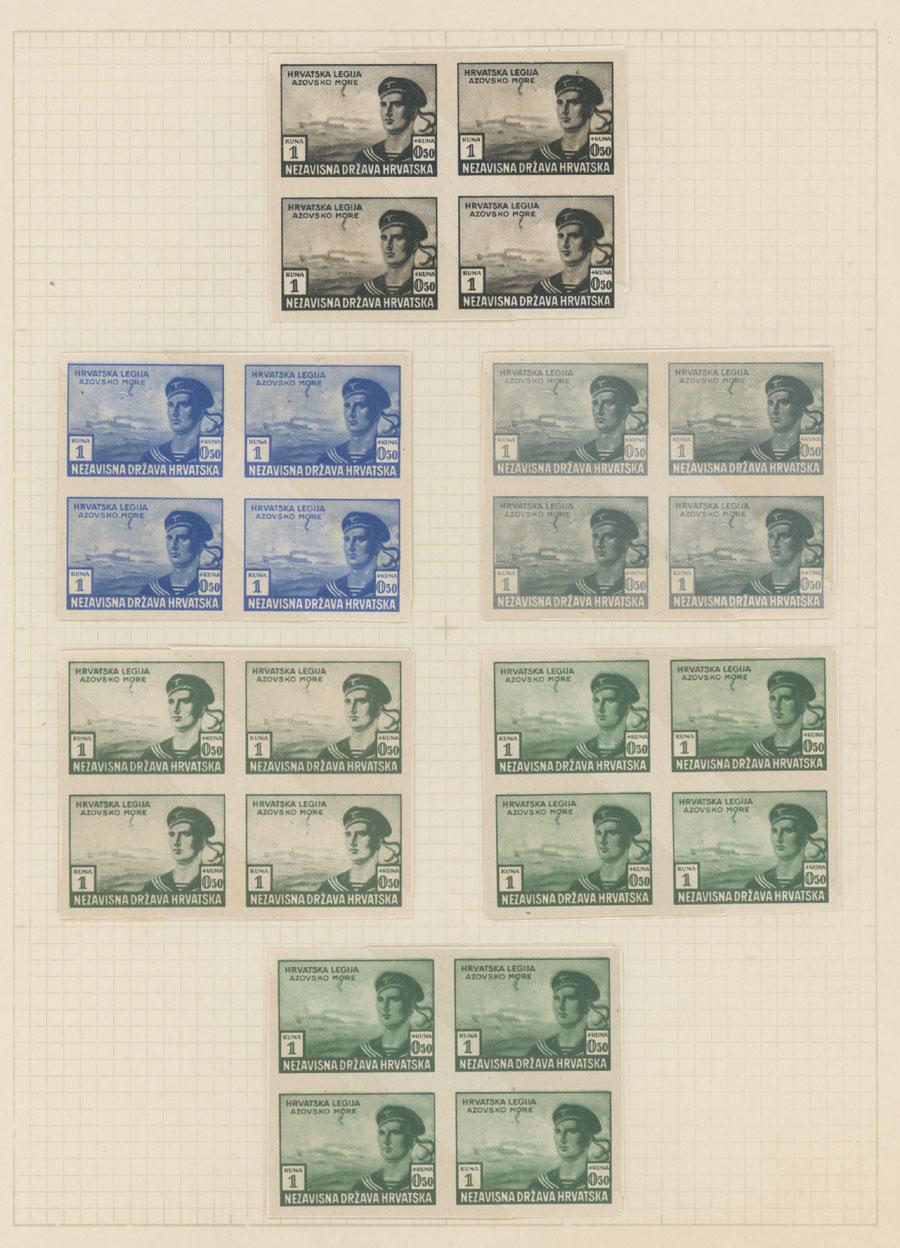 Lot 287 - Croatia semi-postal issues -  Raritan Stamps Inc. Live Bidding Auction #82