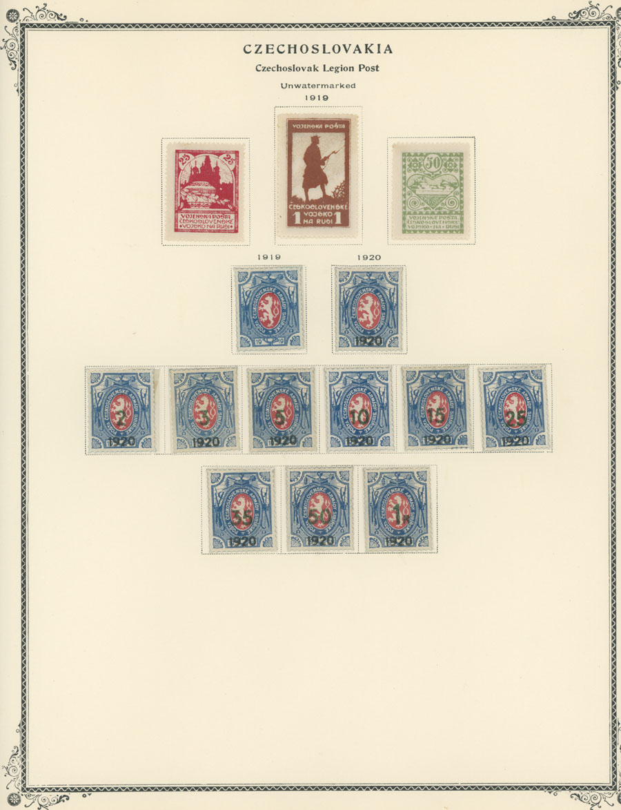Lot 293 - Czechoslovakia czechoslovak legion post in siberia -  Raritan Stamps Inc. Live Bidding Auction #82