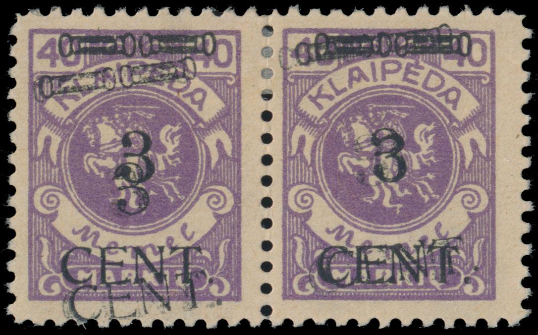 Lot 350 - Germany. Memel  -  Raritan Stamps Inc. Live Bidding Auction #82