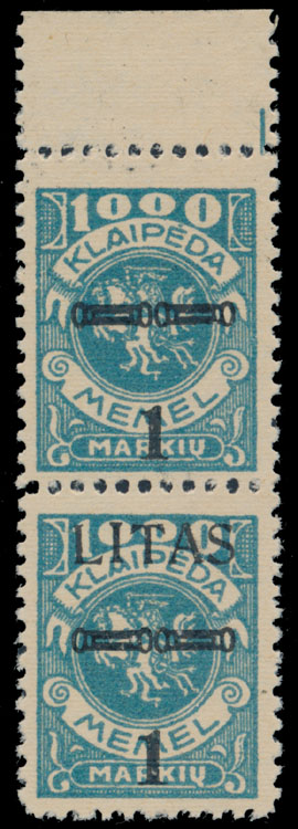 Lot 351 - Germany. Memel  -  Raritan Stamps Inc. Live Bidding Auction #82