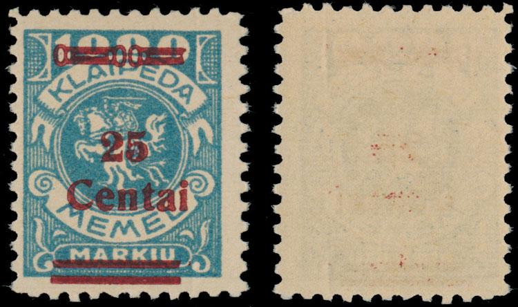 Lot 353 - Germany. Memel  -  Raritan Stamps Inc. Live Bidding Auction #82