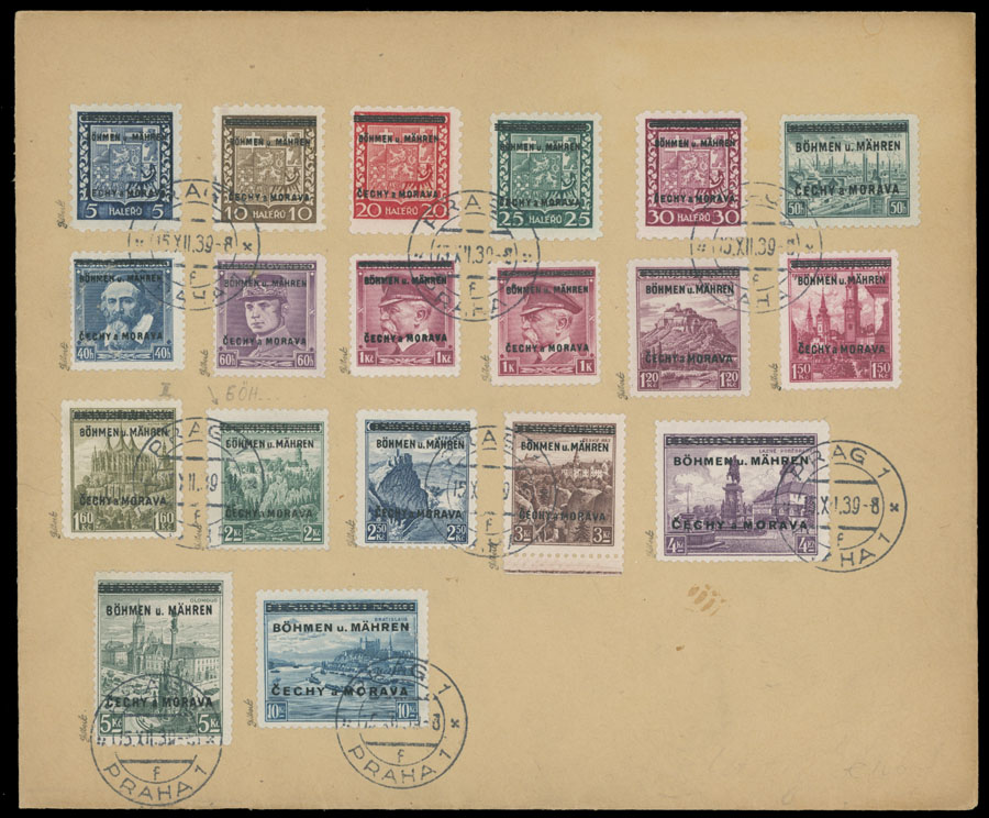 Lot 354 - germany. occupation issues of the world war ii Bohemia and Moravia (Bohmen und Mahren) -  Raritan Stamps Inc. Live Bidding Auction #82