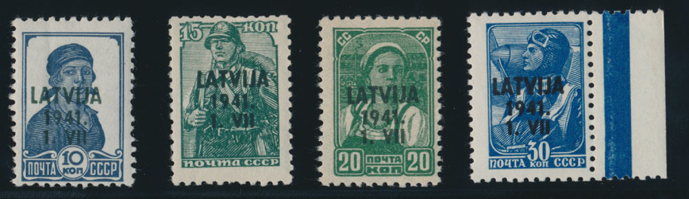 Lot 357 - germany. occupation issues of the world war ii Latvia (Lettland) -  Raritan Stamps Inc. Live Bidding Auction #82
