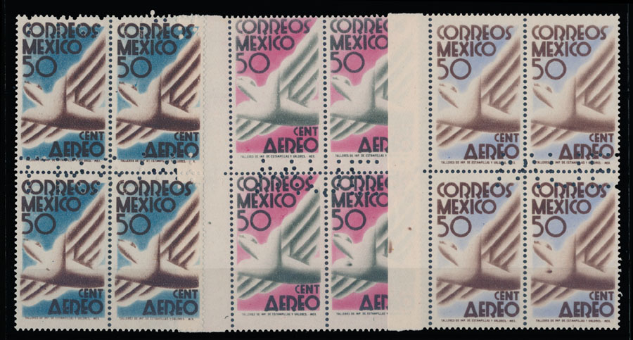 Lot 446 - Mexico air post stamps -  Raritan Stamps Inc. Live Bidding Auction #82