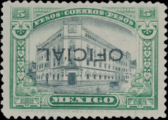 Lot 447 - Mexico official stamps -  Raritan Stamps Inc. Live Bidding Auction #82
