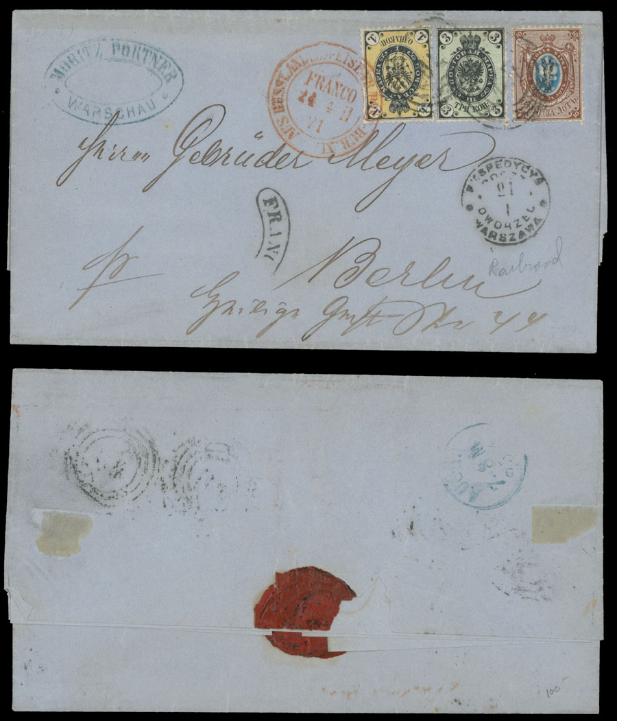 Lot 471 - Poland russian stamps used in the kingdom of poland -  Raritan Stamps Inc. Live Bidding Auction #82