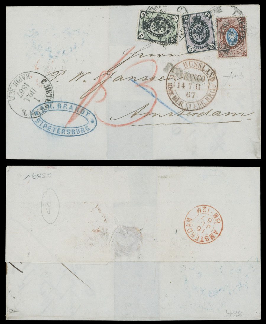 Lot 562 - Russia - Imperia - Collections  -  Raritan Stamps Inc. Live Bidding Auction #82