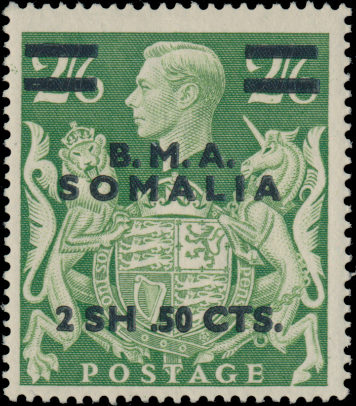 Lot 83 - British Commonwealth british occupation of italian colonies - somalia -  Raritan Stamps Inc. Live Bidding Auction #82