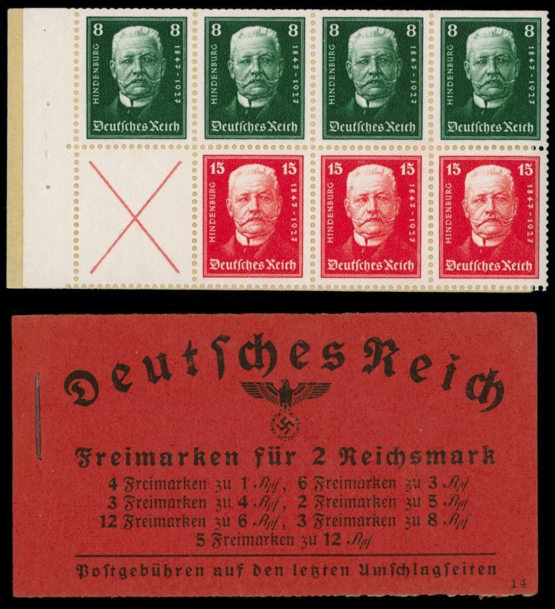 Lot 276 - germany stamp booklets -  Raritan Stamps Inc. Live Bidding Auction #84