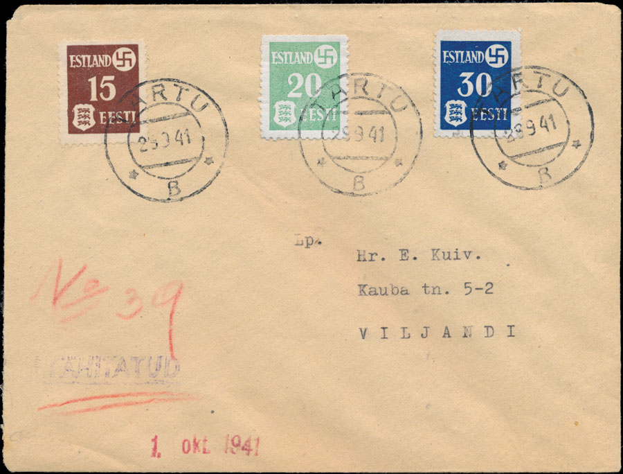 Lot 296 - germany. occupation issues of the world war ii estland (estonia) -  Raritan Stamps Inc. Live Bidding Auction #84
