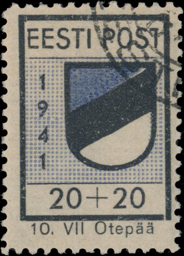 Lot 298 - germany. occupation issues of the world war ii Estland (Estonia) - Odenpah (Otepaa) -  Raritan Stamps Inc. Live Bidding Auction #84