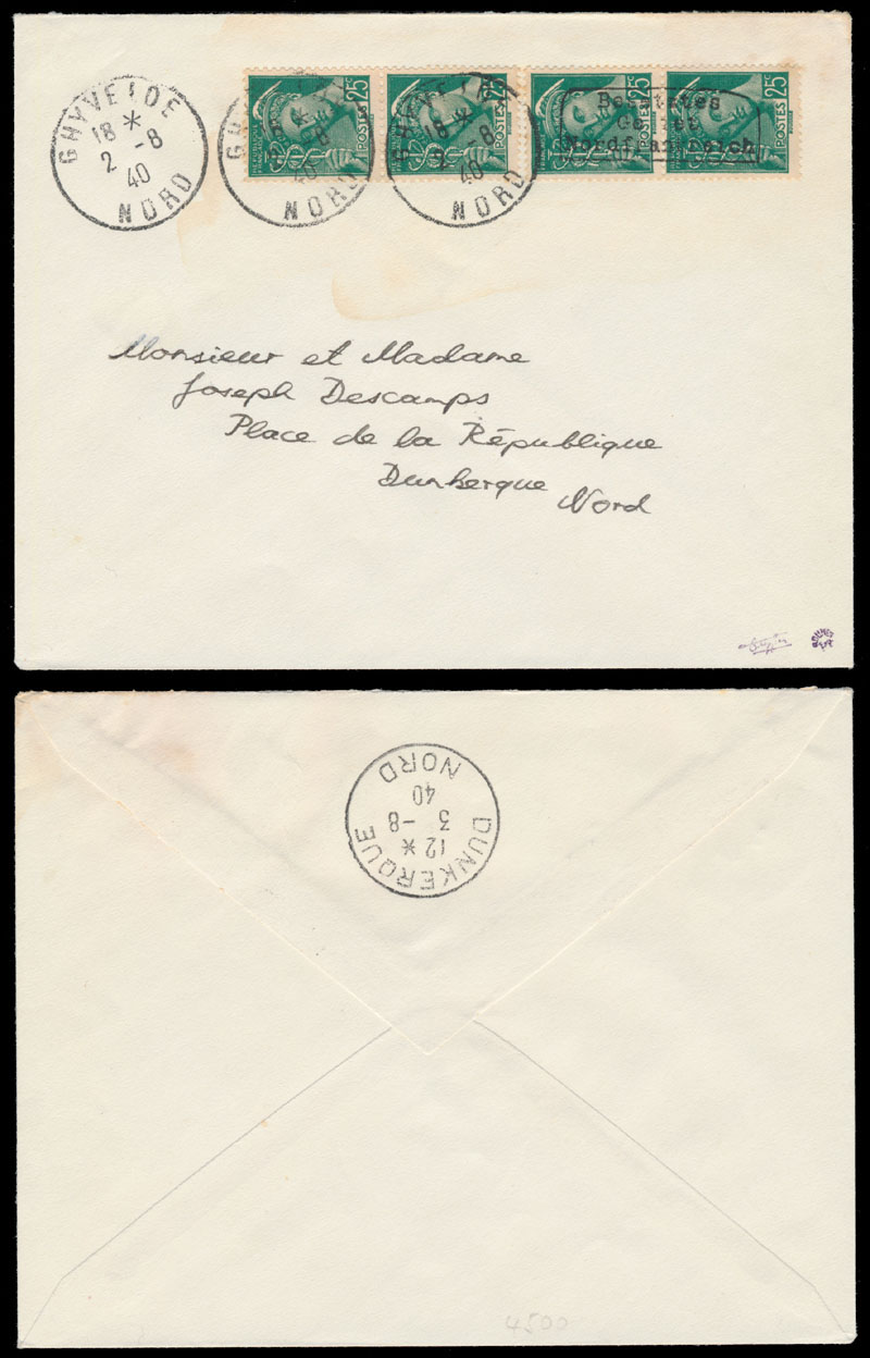 Lot 303 - germany. occupation issues of the world war ii Frankreich (France) - Dunkirchen (Dunkirk) -  Raritan Stamps Inc. Live Bidding Auction #84