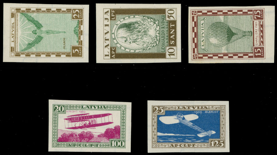 Lot 495 - latvia air post semi-postal issues -  Raritan Stamps Inc. Live Bidding Auction #85