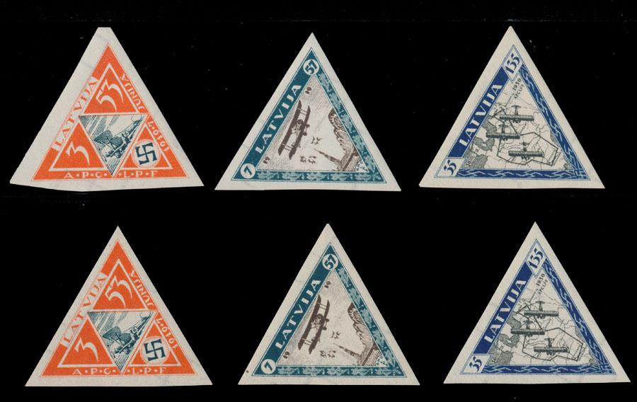 Lot 496 - latvia air post semi-postal issues -  Raritan Stamps Inc. Live Bidding Auction #85